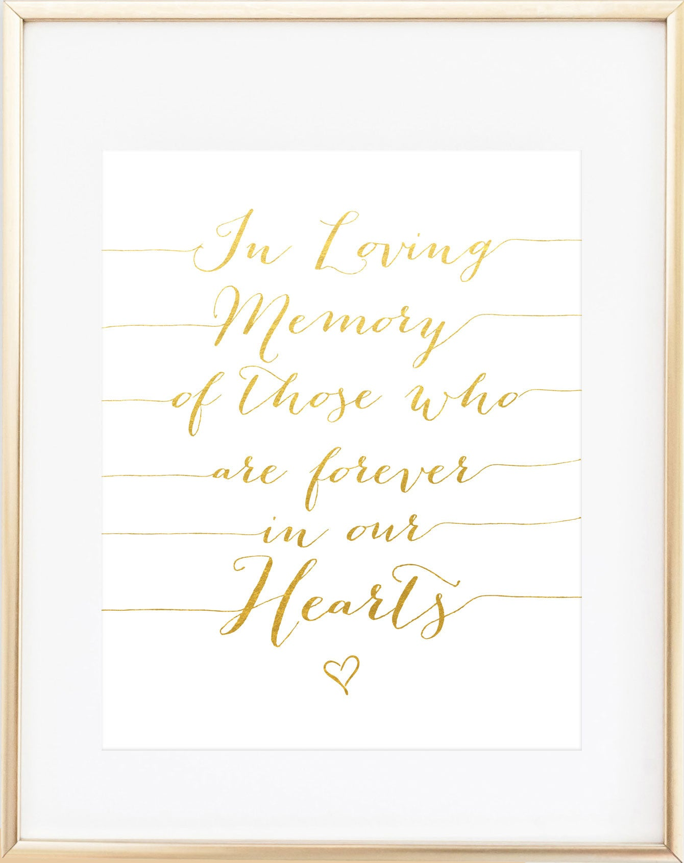 In Loving Memory Of Wedding Sign