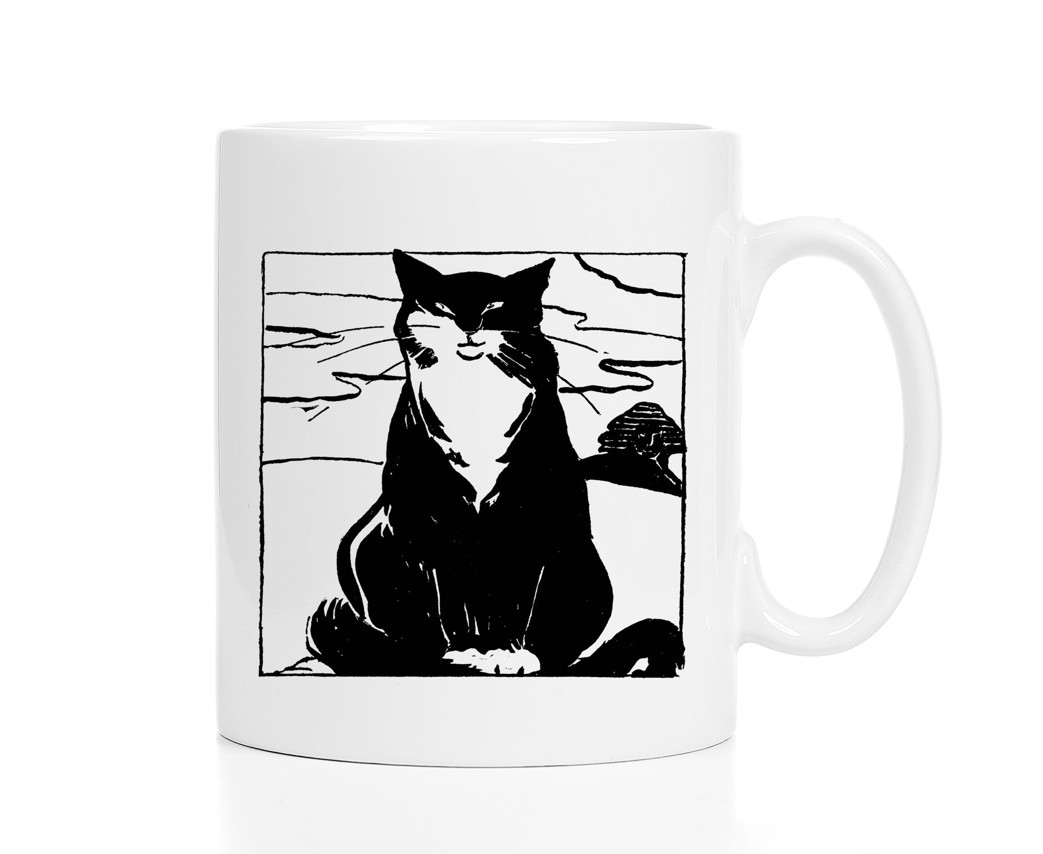 Japanese Cat Art Mug