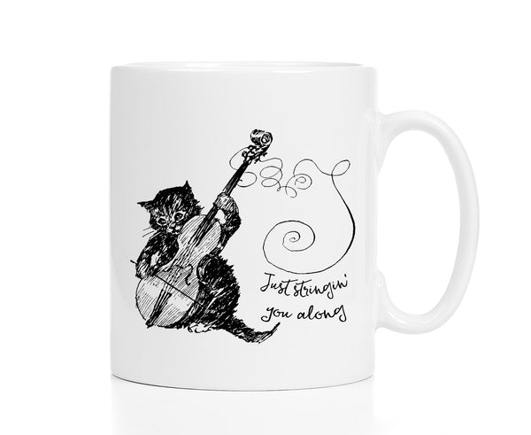 Just Stringin' You Along Cat Mug