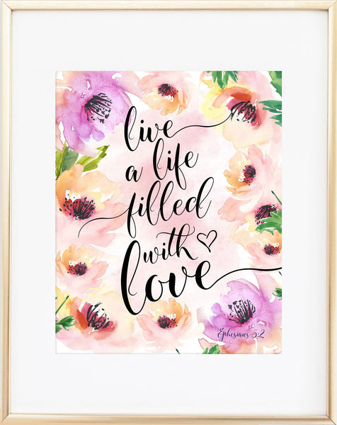 Ephesians 5:3 Print: Live a Life Filled With Love