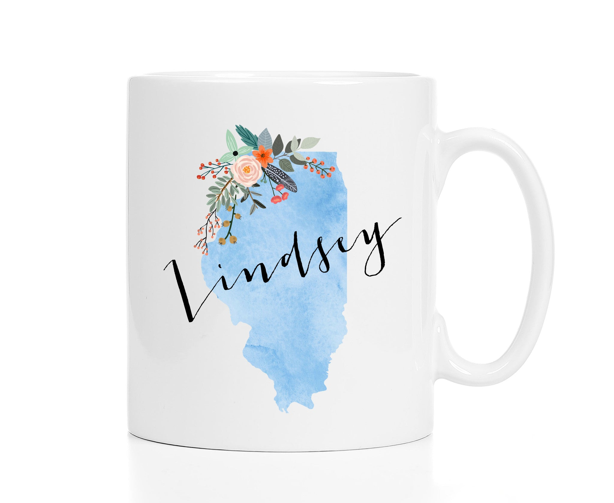 Personalized Illinois Mug