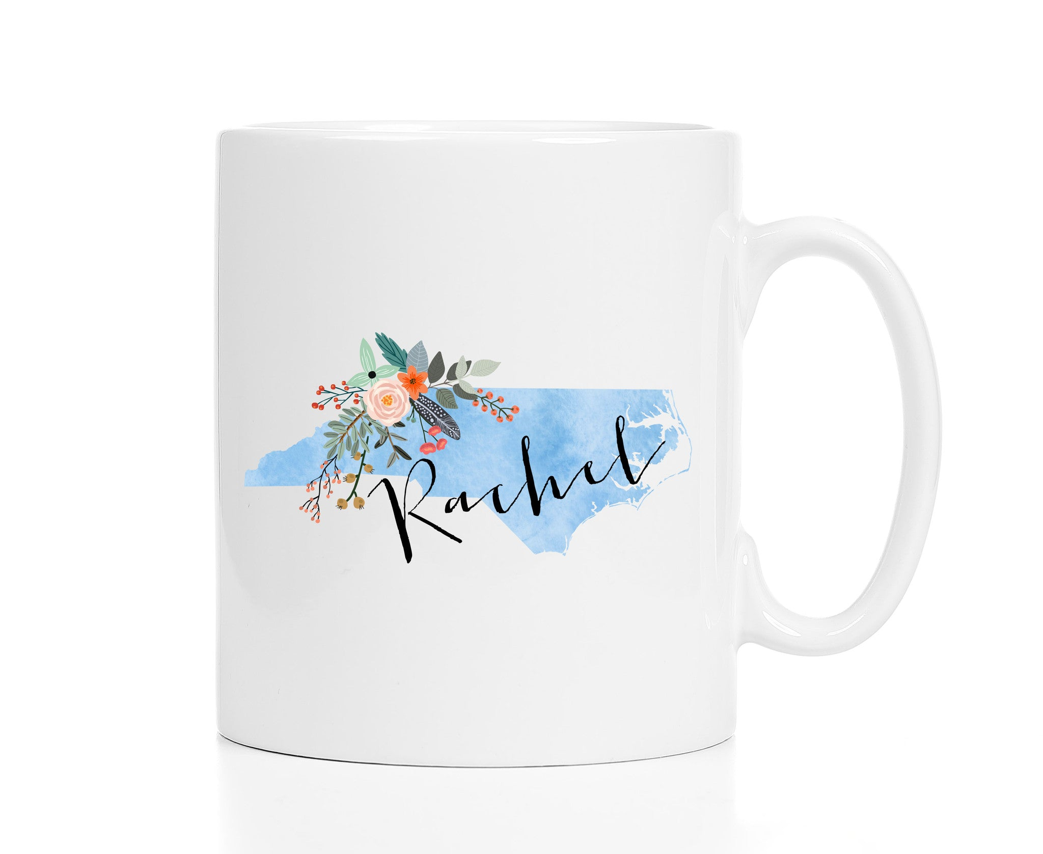Personalized North Carolina Mug