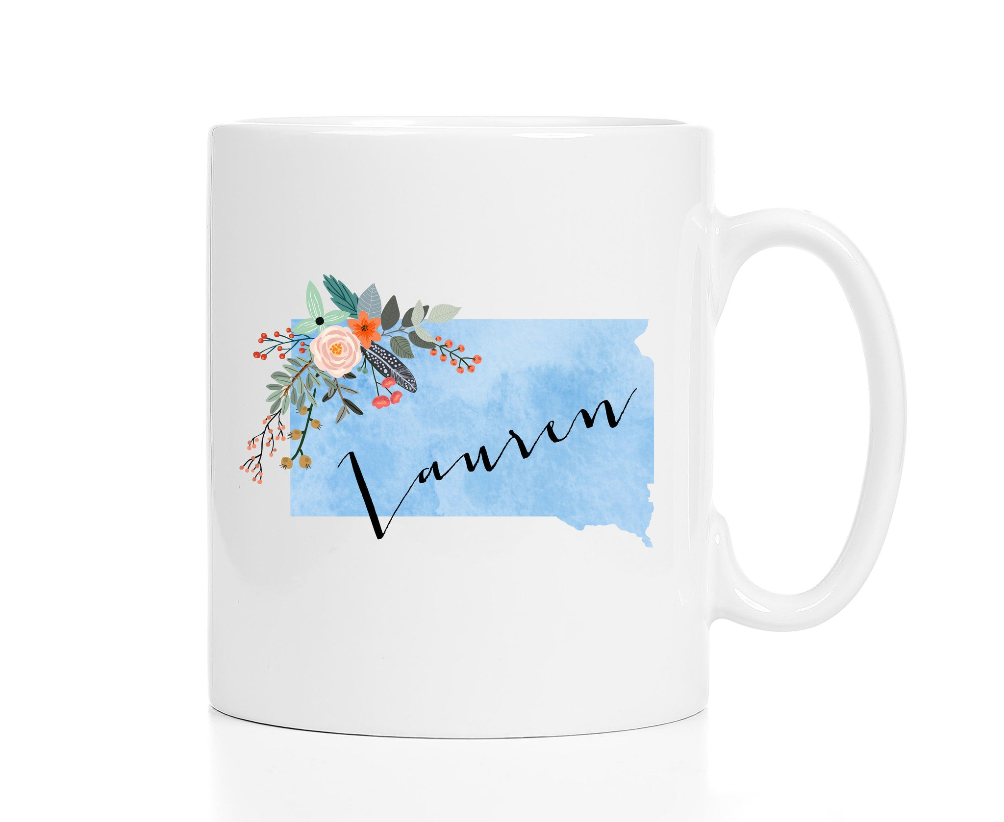 Personalized South Dakota Mug