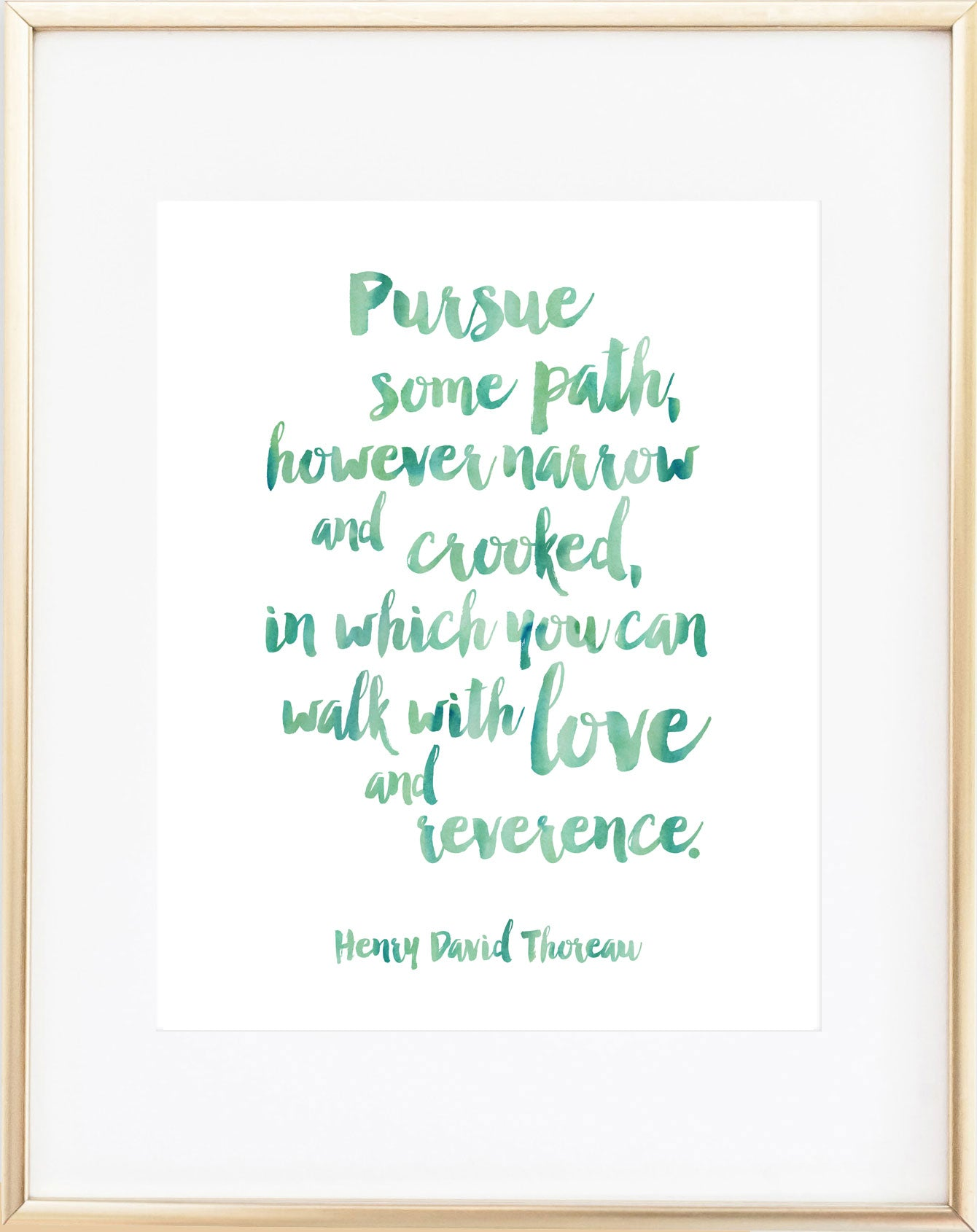 Thoreau Print - Pursue Some Path