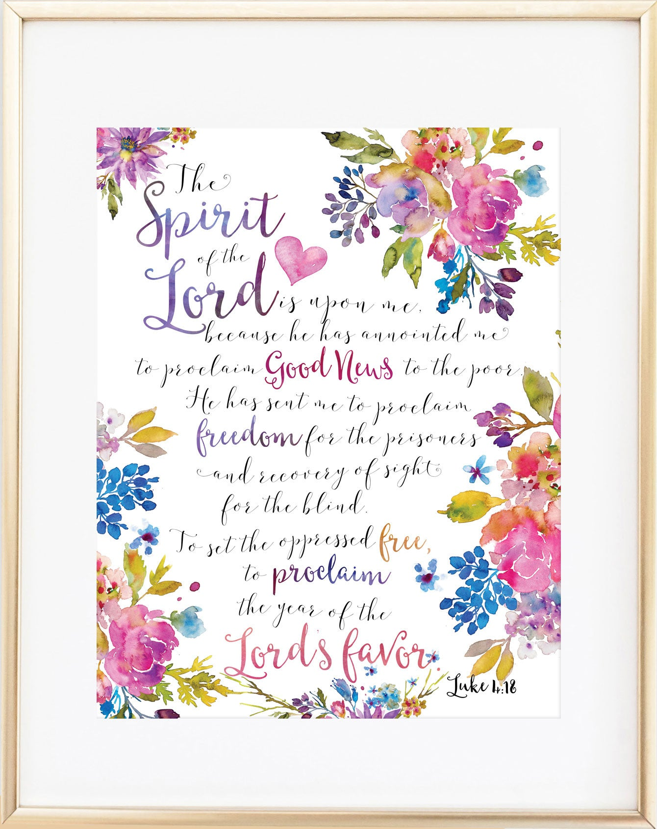 The Spirit of the Lord Print