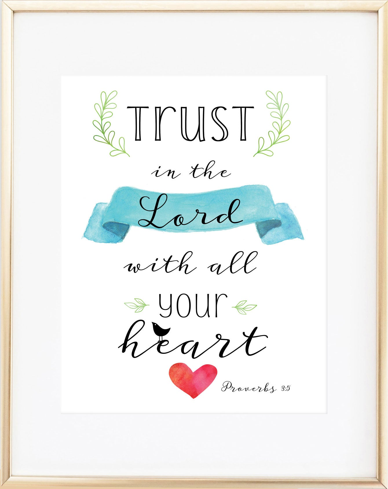 Trust in the Lord Print