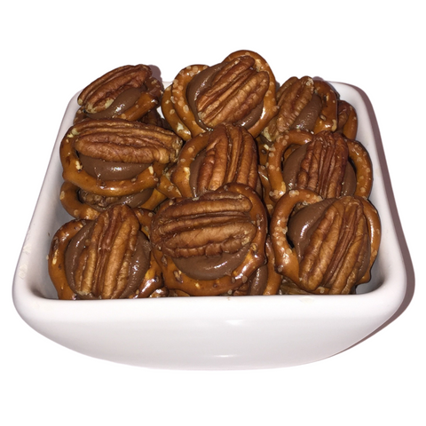 Mini Pretzel Chocolate Pecan Turtle
