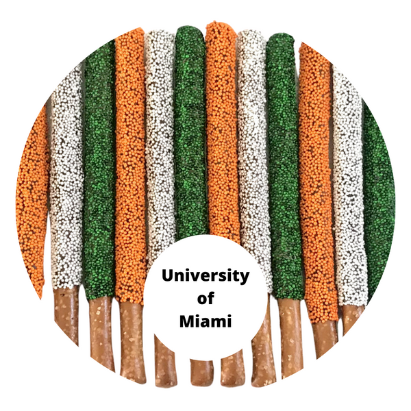 College Pretzel Platter (Many College Colors Available)