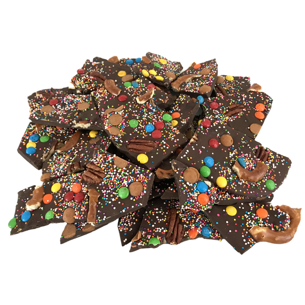 Chocolate Bark With Lots of Toppings
