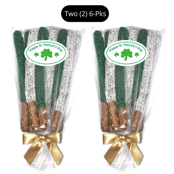 St. Patrick's Day Chocolate Pretzel Rods