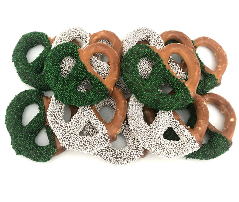 St. Patrick's Day Chocolate Covered Jumbo Pretzels