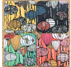 Coasters Set of 4 Vietnamese Lanterns