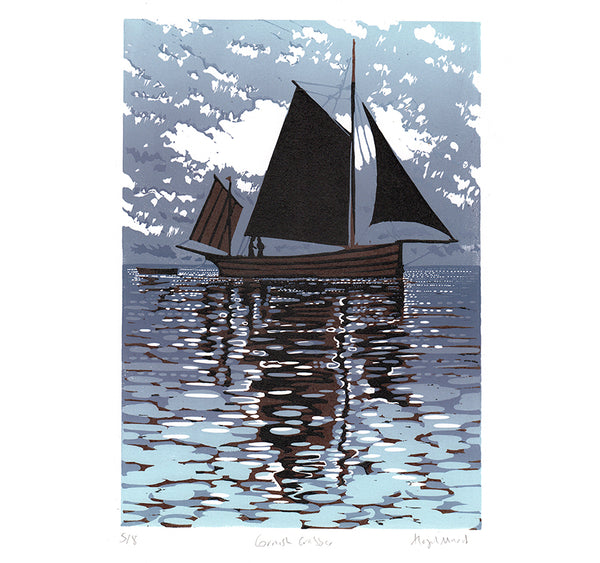 Cornish Crabber - Purple giclee