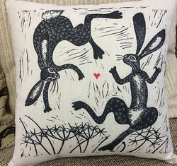 hares on a cushion