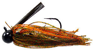 Football Jigs (Mussel Crawler) - #44 - Pumpkin, Green, & Orange