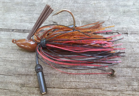 Flipping Jig #39 - Red Crawfish (1 jig in package)