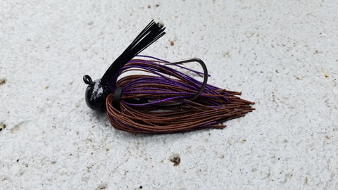 Football Jigs (Mussel Crawler) - #63 - Brown Purple (BP)