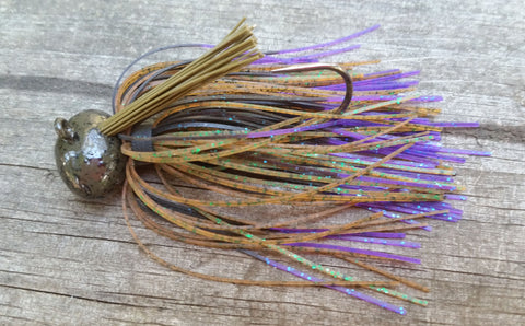 Football Jigs (Mussel Crawler) - #24 - Green Tequila