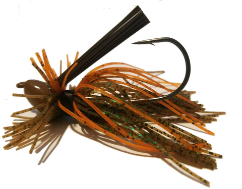 Wood Thumper Jigs - #44 - Green & Orange Pumpkin