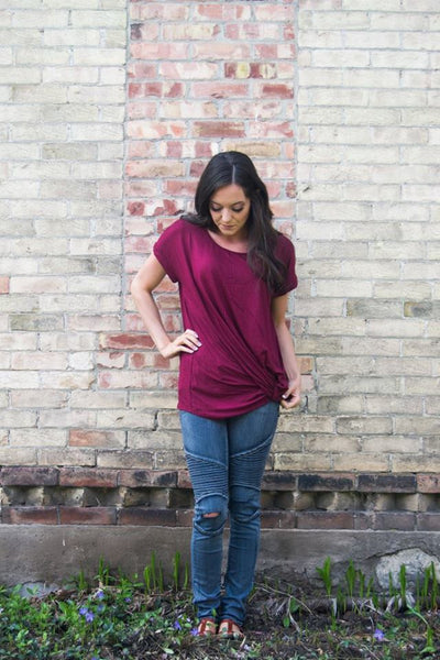 Knotted Tee- 4 colors!