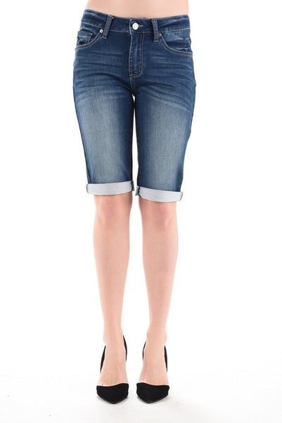 Dark Non-Distressed Bermuda Shorts