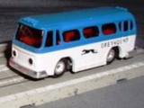 1968 Aurora Slot Car Postage Stamp GREYHOUND Bus System FALLER Model Railroad Tain Accessory