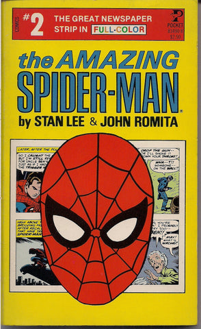 Amazing SPIDER-MAN 2,1980,Stan Lee,John Romita,Marvel Comics,Full Color,Newspaper Comic Strips,Pocket Books, Kingpin,Rattler,Mary Jane Watson, Peter Parker