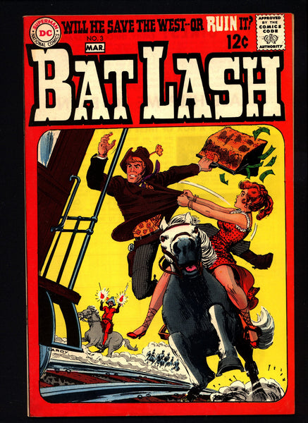 BAT LASH 3, Western Pacifist Cowboy Hero, Nick Cardy,Sergio Aragonés,Denny O'Neil,Sheldon Mayer, DC Comics, Old West Satire