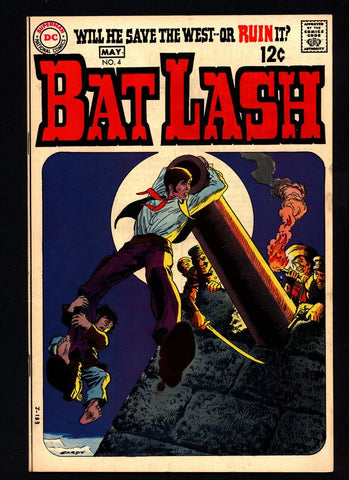 BAT LASH 4, Western Pacifist Cowboy Hero, Nick Cardy,Sergio Aragonés,Denny O'Neil,Sheldon Mayer, DC Comics, Old West Satire