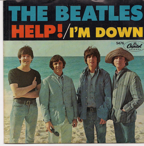 "BEATLEmania! 7"" Picture Sleeve, BEATLES MOVIE SOUNDTRACK, HELP,I'm Down,John Lennon,Paul McCartney,George Harrison,Ringo Starr,British Invasion"