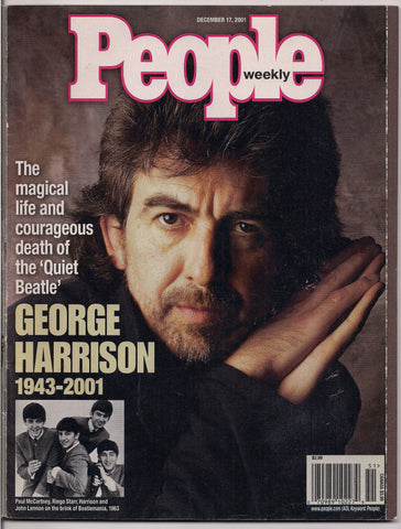 BEATLEmania! GEORGE HARRISON,People Magazine Memorial Issue,BEATLES,British Invasion,Mod,Rock and Roll Music
