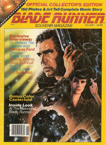 Philip K Dick, BLADE RUNNER,Official Collector's Edition Souvenir Magazine, 1983, Harrison Ford,Ridley Scott, Syd Mead