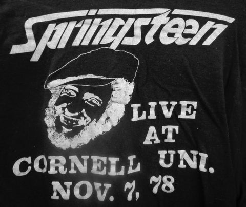 BRUCE SPRINGSTEEN, E Street Band,The Boss,Original,Cornell University,Barton Hall, Rock and Roll Concert,1978, Like New,RARE Vintage T-Shirt