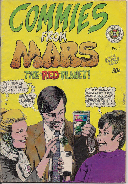 COMMIES from MARS 1, Peter Poplaski,Steve Stiles,Howard Cruse Barefootz,Hitler funnies,MATURE,Psychedelic Hippy Underground Comics