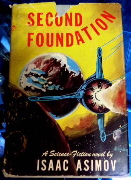 SECOND FOUNDATION, Isaac Asimov, 1953, 1st Printing, First Edition Hardcover, Gnome Press, Science Fiction Classic