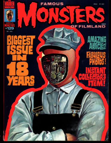 FAMOUS MONSTERS 129 Horror Science Fiction Fantasy Dracula Witches Dr Who Daleks KAIJU Dinosaur Movies