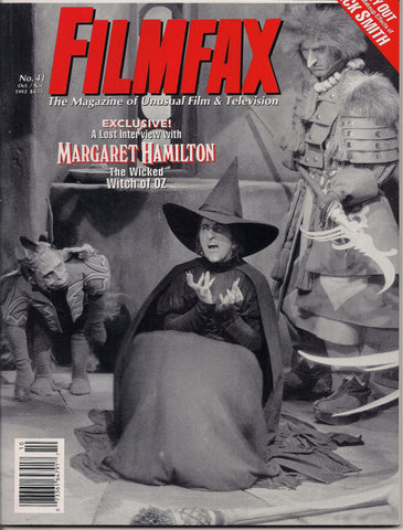 FILMFAX #41, Margaret Hamilton,Wicked Witch,Wizard of Oz,Fu Manchu,Jack Webb Dragnet,Mario Bava Black Sunday,Munsters,Roald Dahl,Ozmania