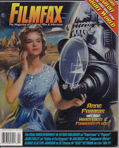 FILMFAX #78, Anne Francis,Robby the Robot,Forbidden Planet,Max & Dave Fleischer Brothers Cartoons Studios,Boris Karloff,SF,Sci-Fi,Science Fiction