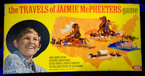 Kurt Russell, The Travels of Jaimie McPheeters, 1963,Cowboy,Western,TV Show,Scarce, Vintage,BOARD GAME by Ideal