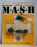 MASH 4077 TV Series,1/87 scale,Die Cast Metal,1976,Willys Medical Jeep,Mint in Package,NRFB,Zee Toys,Mobile Army Surgical Hospital,M*A*S*H