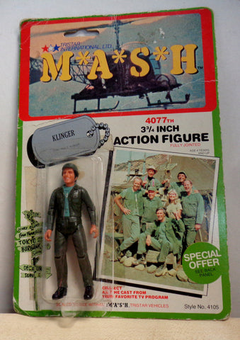 MASH 4077 TV Series,A,Corporal Max KLINGER,Jamie Farr,1982,TriStar Action Figure,Mint in Package,Mobile Army Surgical Hospital,M*A*S*H