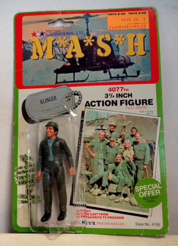 MASH 4077 TV Series,B,Corporal Max KLINGER,Jamie Farr,1982,TriStar Action Figure,Mint in Package,Mobile Army Surgical Hospital,M*A*S*H