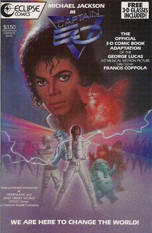 MICHAEL JACKSON,Disney,Captain Eo 3D,Official Adaptation,Three Dimensional,Eclipse Comics,1987,Tom Yeates,George  Lucas,Francis Ford Coppola