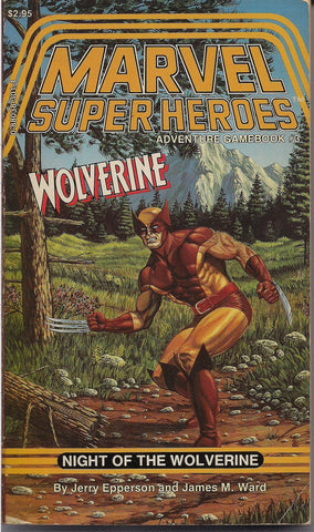 Marvel Comics Super Heroes Gamebook #3, RPG, TSR,WOLVERINE,X-Men,Jerry Epperson, James M. Ward,Bart Sears,Jeff Butler,Wizards of the Coast