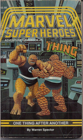 Marvel Comics Super Heroes Gamebook #5, RPG, TSR,The THING,Fantastic Four,Warren Spector,Mike Machian,Jeff Butler,Wizards of the Coast