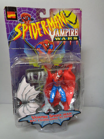 Marvel Comics, The Amazing SPIDER-MAN Vampire Wars,1996 Toybiz. Action Figure, Bat Launching Action,Unopened and still sealed