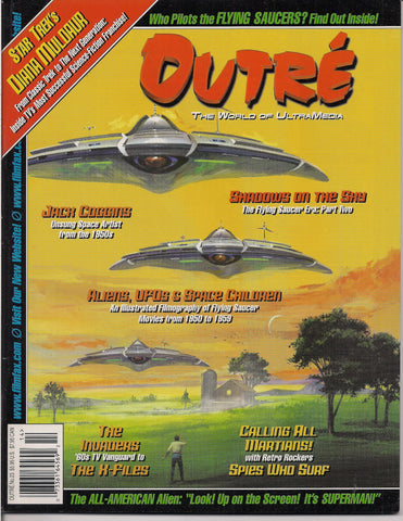 Outré 23,UFOs,Flying Saucers Filmography,All-American Alien,SUPERMAN,TV Sci Fi,Martians,Star Trek,The Invaders,SF Pulp Artist,Jack Coggins