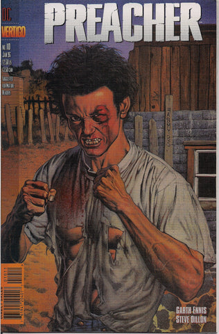 PREACHER #10, Garth Ennis,Steve Dillon,Jesse Custer,The Saint of Killers,Cassidy,Tulip,DC Comics Vertigo Press