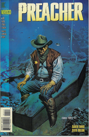 PREACHER #11, Garth Ennis,Steve Dillon,Jesse Custer,The Saint of Killers,Cassidy,Tulip,DC Comics Vertigo Press