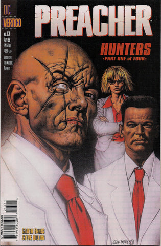 PREACHER #13, Garth Ennis,Steve Dillon, 1st appearance of Herr Starr,Featherstone,Grail, Jesse Custer,Cassidy,Tulip,DC Comics Vertigo Press